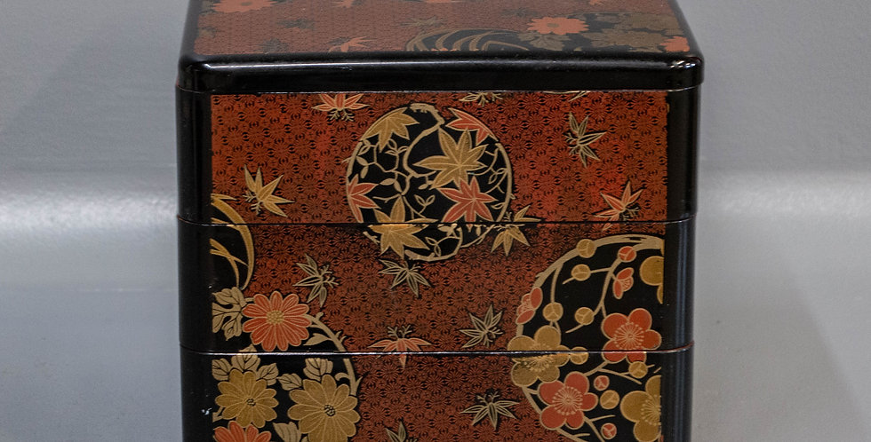 Japanese Polychrome Lacquerware Trays