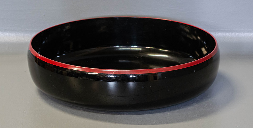 Black & Red Lacquered Bowl