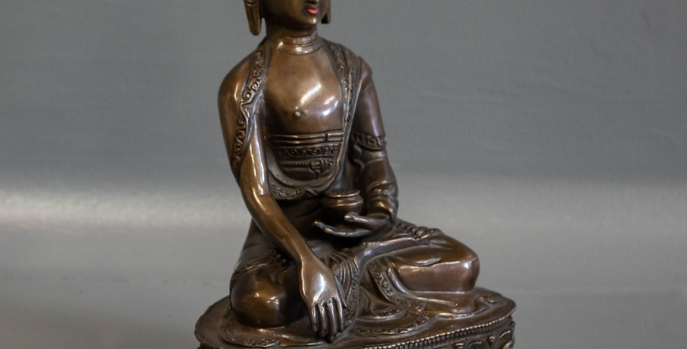 Cast Bronze Sitting Buddha
