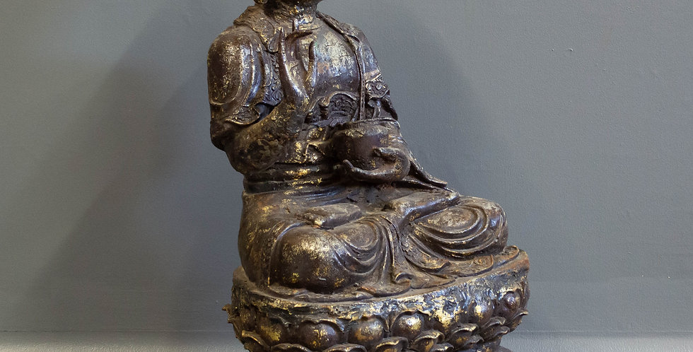 Sitting Cast Iron Buddha