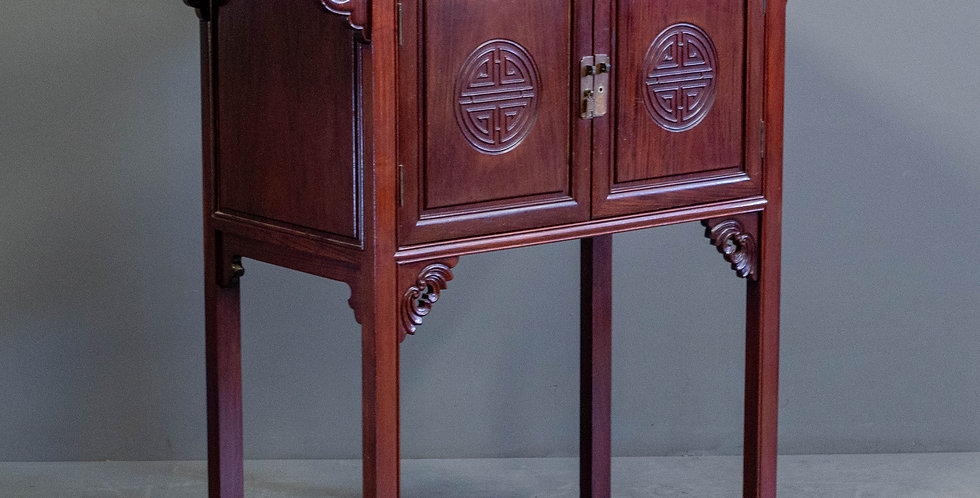 Tall Rosewood Cabinet