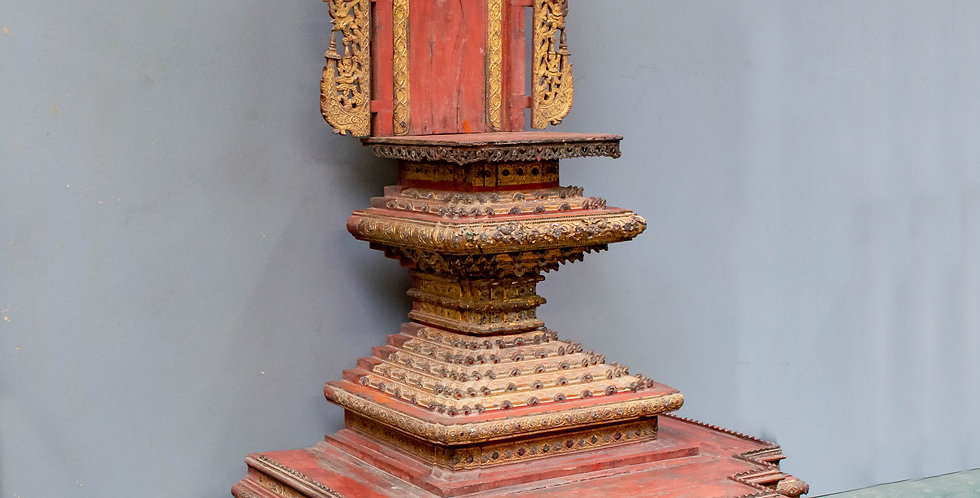 Antique Burmese Buddha Altar Throne