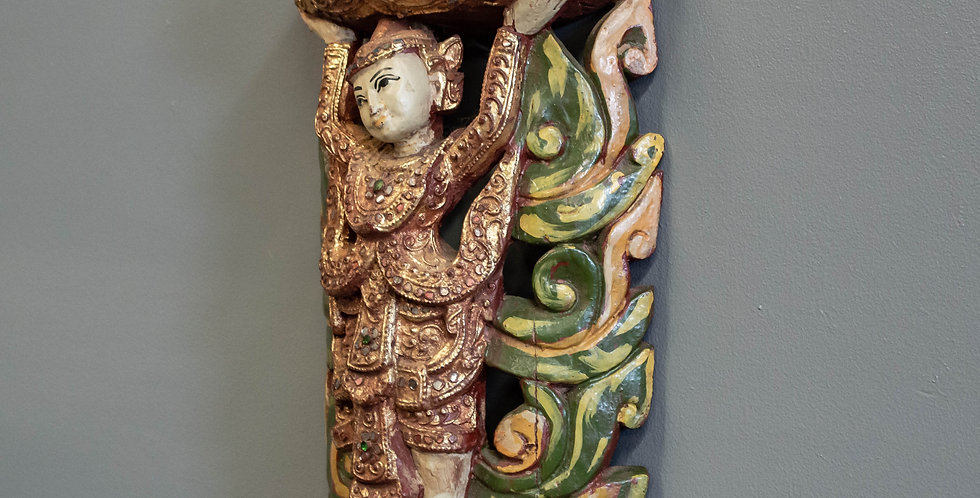 Carved and Painted Thai  Sconce