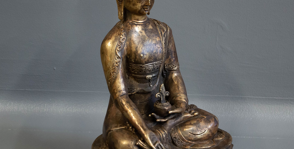 Cast Brass Sitting Buddha