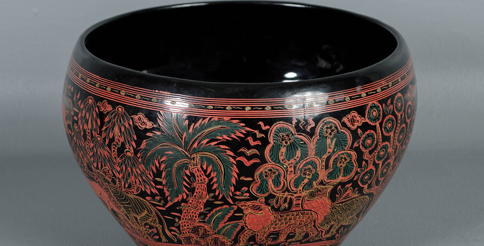 Vintage Burmese Lacquered Bowl