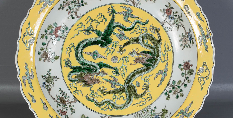 Chinese Dragon Charger Plate