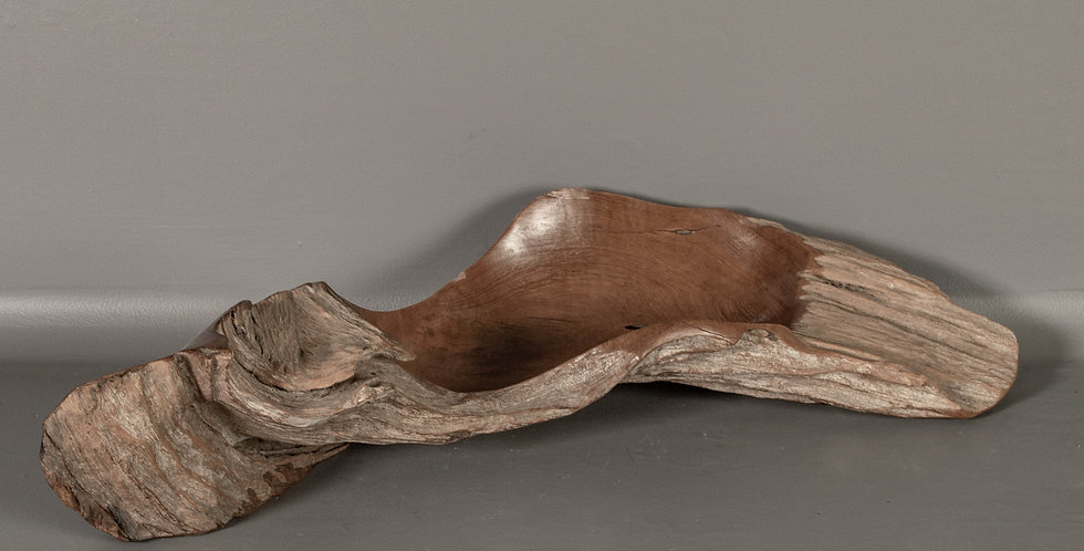 Carved Teak Root Bowl