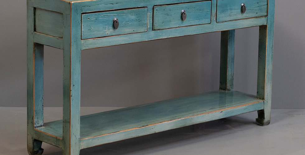 Blue painted Console Table