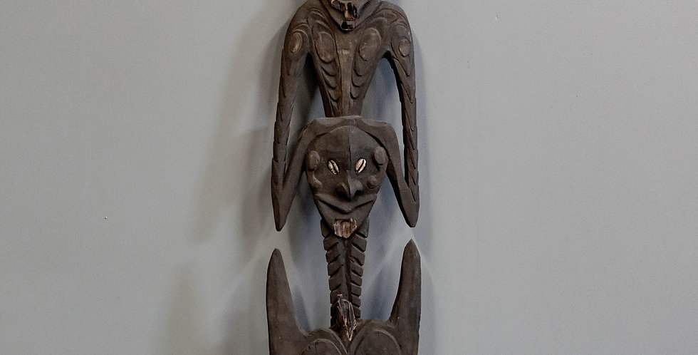 Carved Papua New Guinea Food Hook  (Tribal)