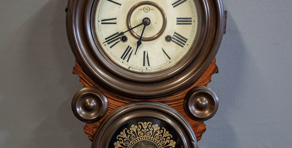 Antique Japanese 8 Day Clock