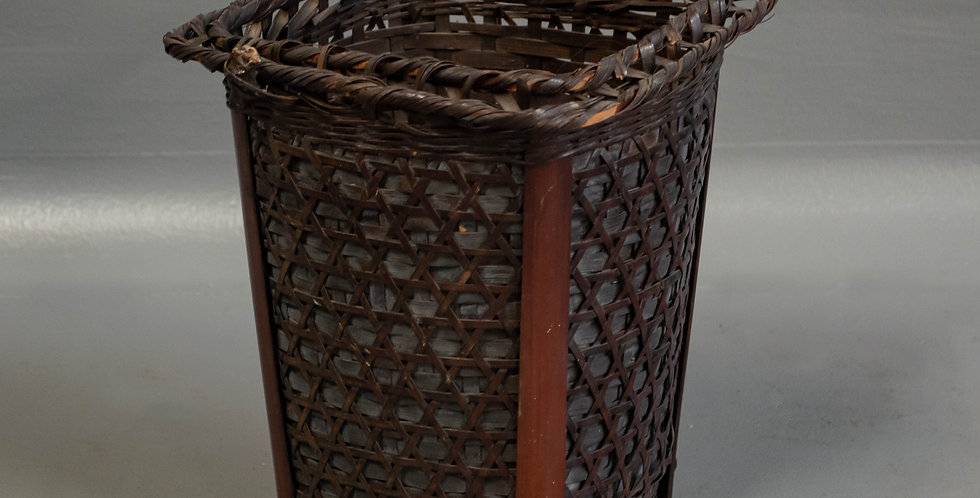 Small Antique Handwoven Japanese Flower Basket