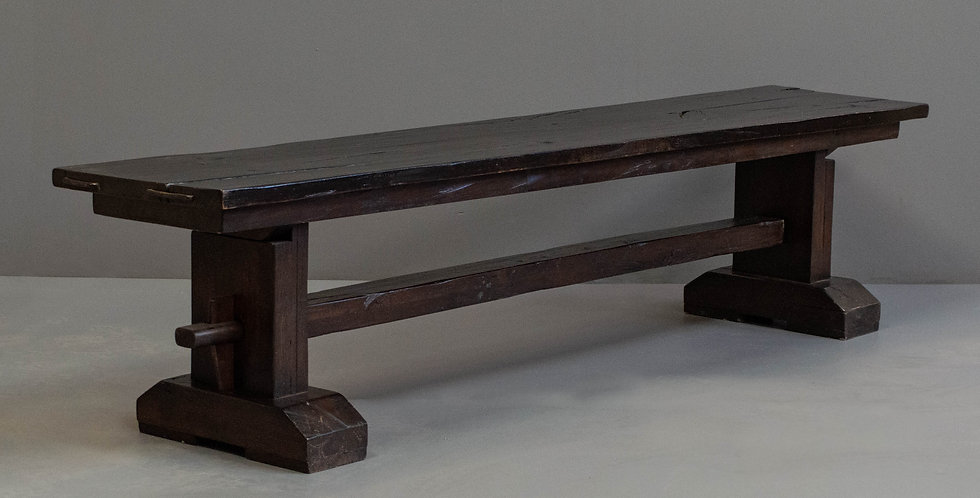 Oak Slab Bench - One of a Pair