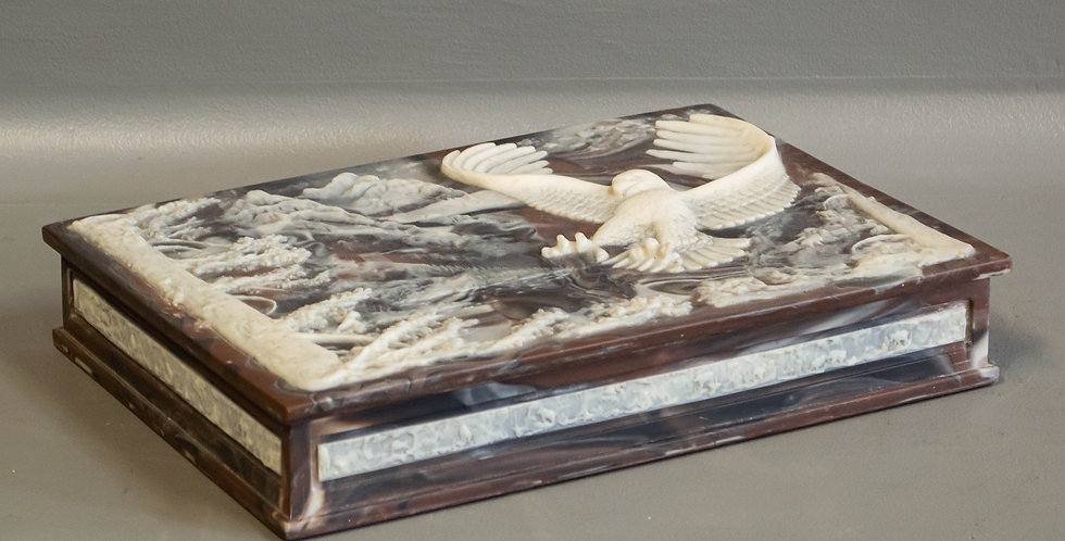 Incolay Carved Stone Box