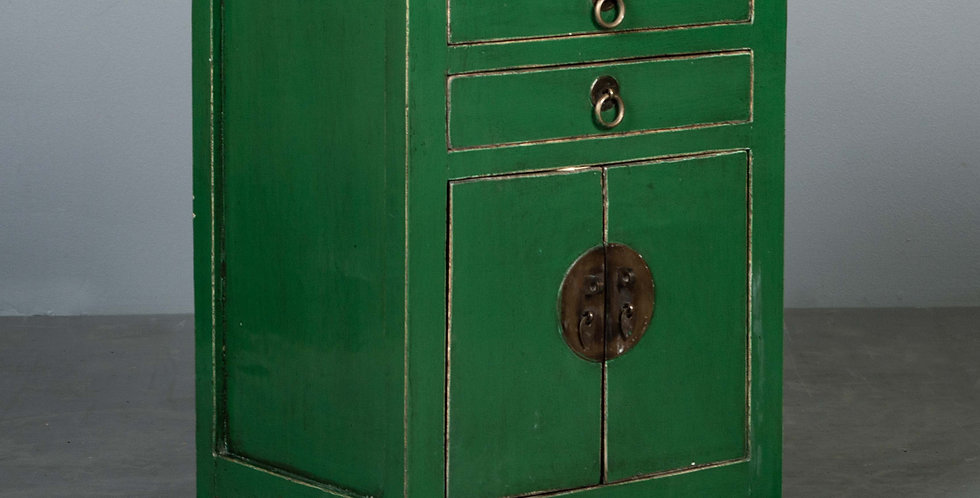 Green Painted Nightstand / Cabinet
