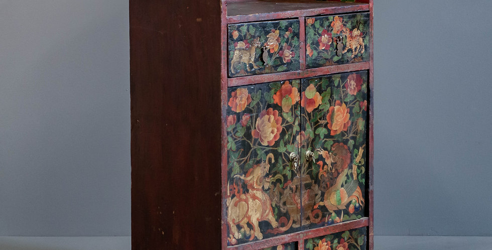 Antique Tibetan Shrine Cabinet