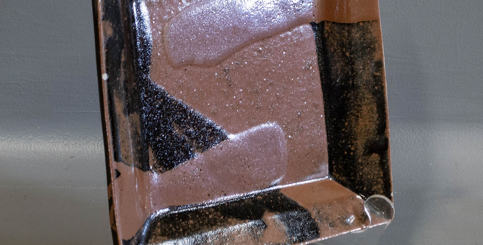 Japanese Brown Glazed Square Plate