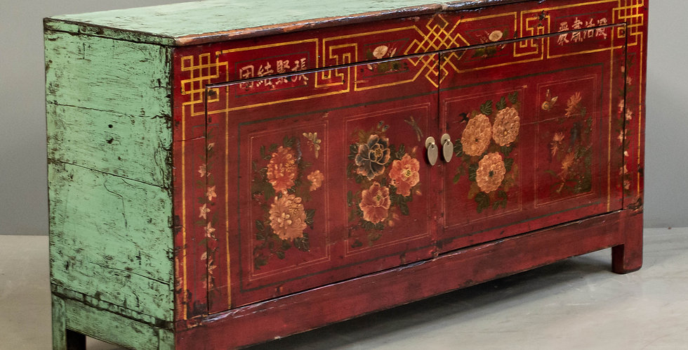 Antique Dongbai Painted Cabinet/Sideboard