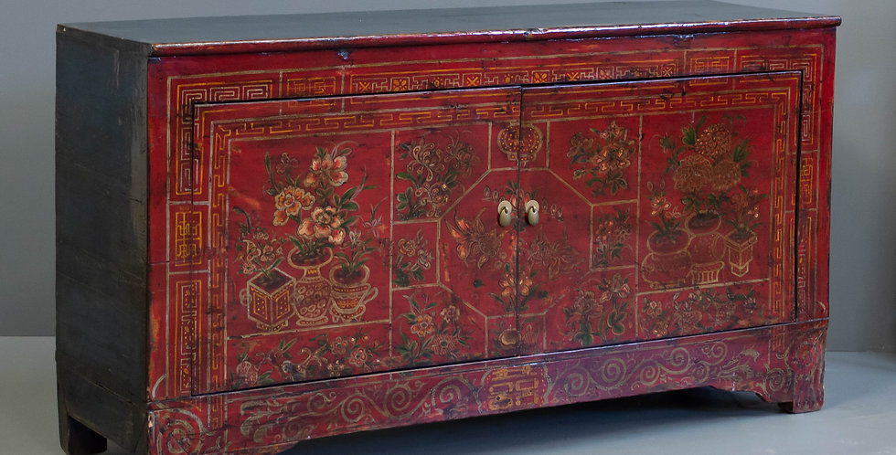 Antique Chinese Dongbei Sideboard Cabinet