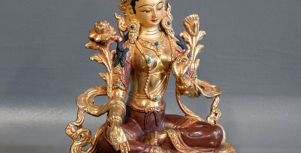 Cast Bronze Sitting Female Diety (Tara)
