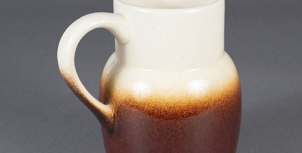 Vintage French Country Two-Toned Earthenware Pitcher