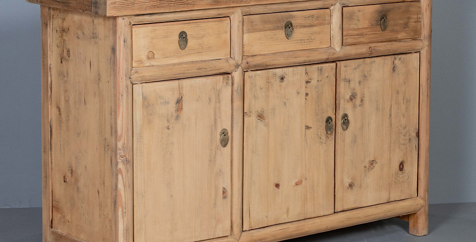 Natural Pine Wood Cabinet / Sideboard