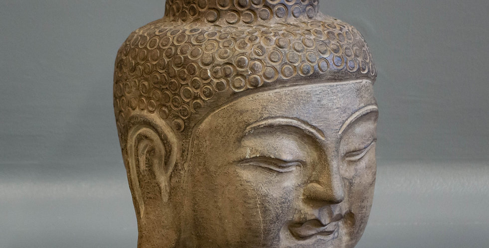 Small Carved Stone Chinese Buddha Head