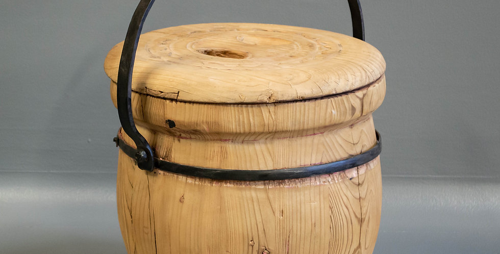 Rustic Chinese Rice Bucket