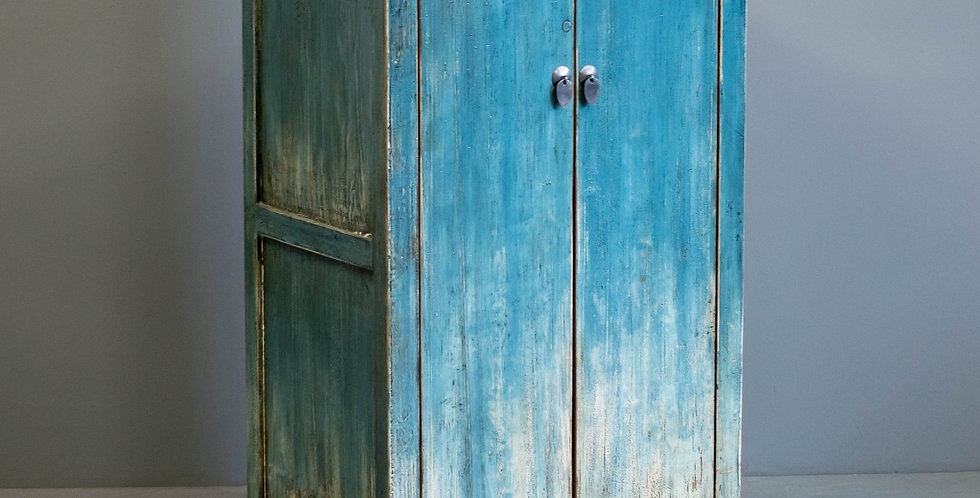 Chinese Blue Painted Two Door Cabinet