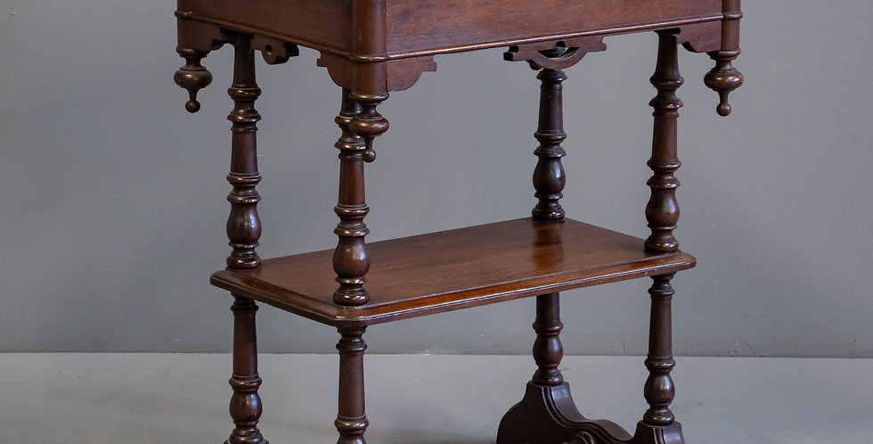 Antique Victorian Walnut Side Table