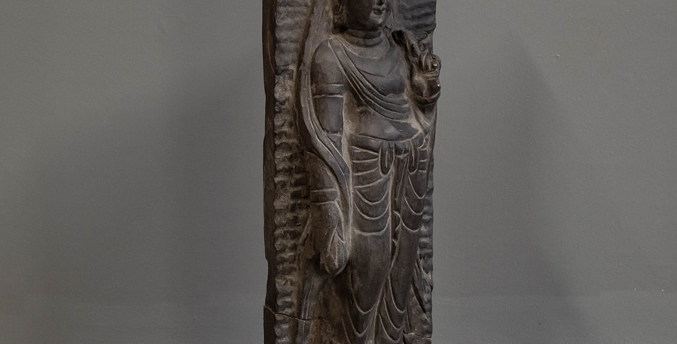 Carved Chinese Dark Stone Sculpture