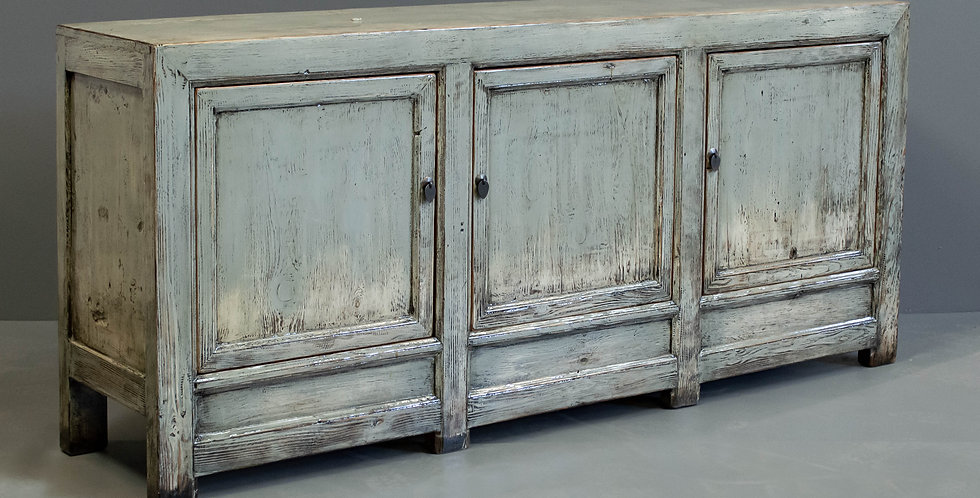 Gray Painted Chinese Sideboard/Cabinet