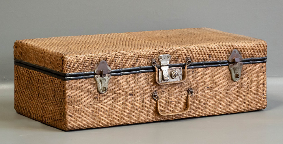 Chinese Rattan Suitcase