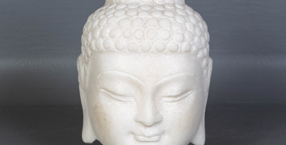 Small Carved Marble Buddha Head