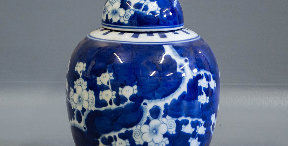 Small Chinese Lidded Ginger Jar