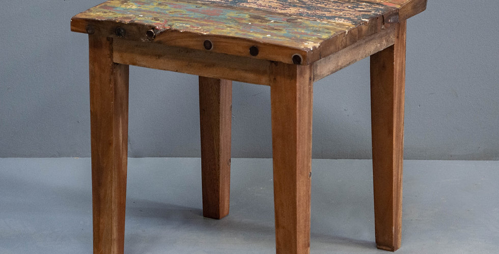 Reclaimed  Boatwood Side Table