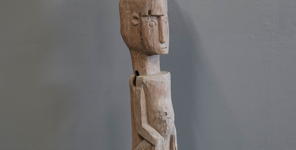 Carved Wood Figure from Indonesia