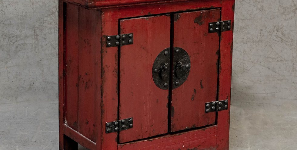 Small Red Painted Cabinet
