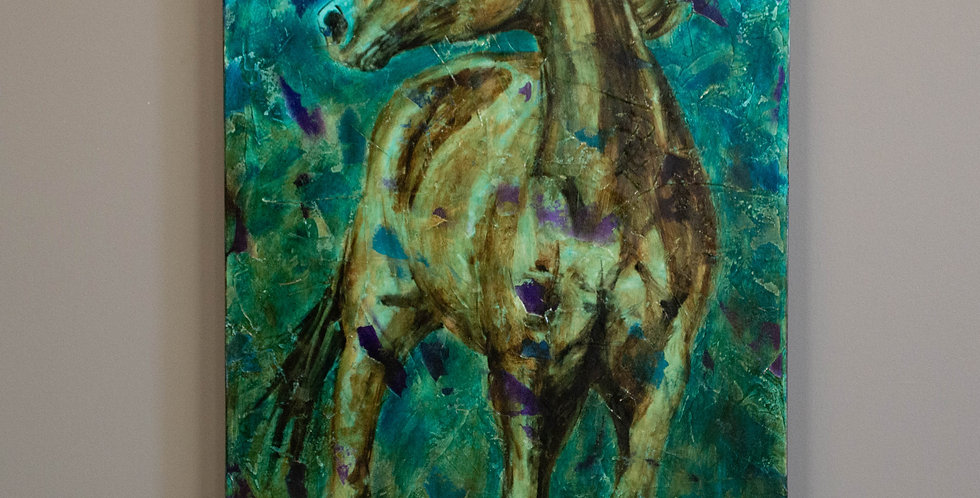 """Original Oil Painting by Shawndell Oliver:  """"Silent Wind"""""""