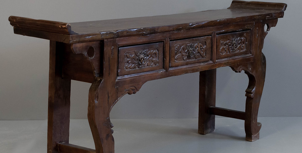 Antique 3 Drawer Chinese Altar Table/Sideboard