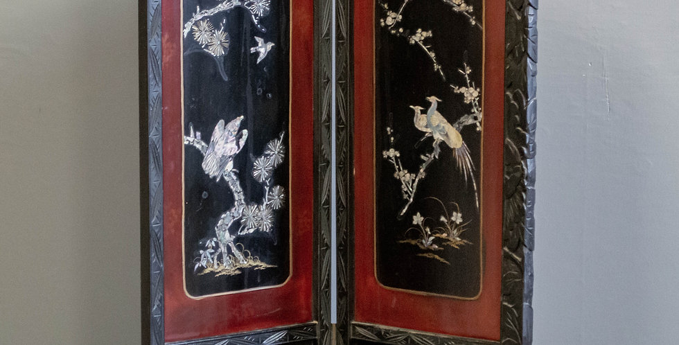 Vintage Chinese Two Panel Screen