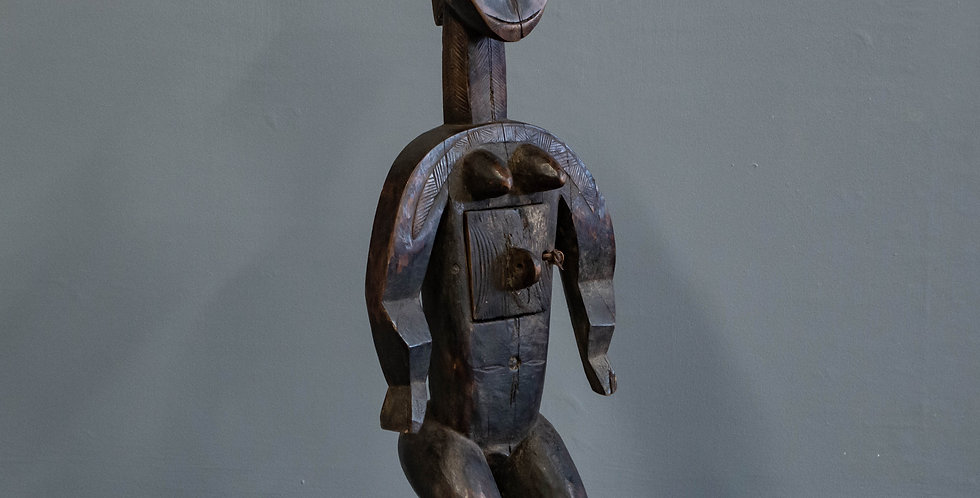 Vintage Mossi Divination Tribal Figure.  Wood Sculpture.