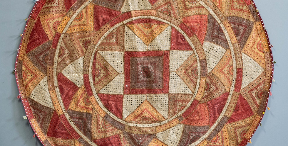 Large Round Indian Tapestry / Bedspread