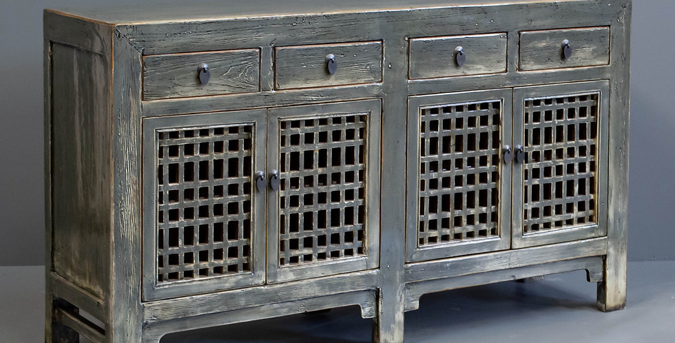 Green Painted Chinese Sideboard/Cabinet