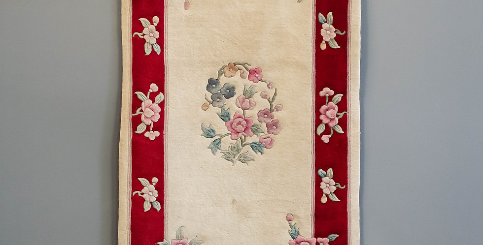 Small Hand Made Chinese Area Rug