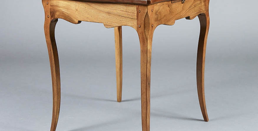 1920's French Walnut Square Side Table