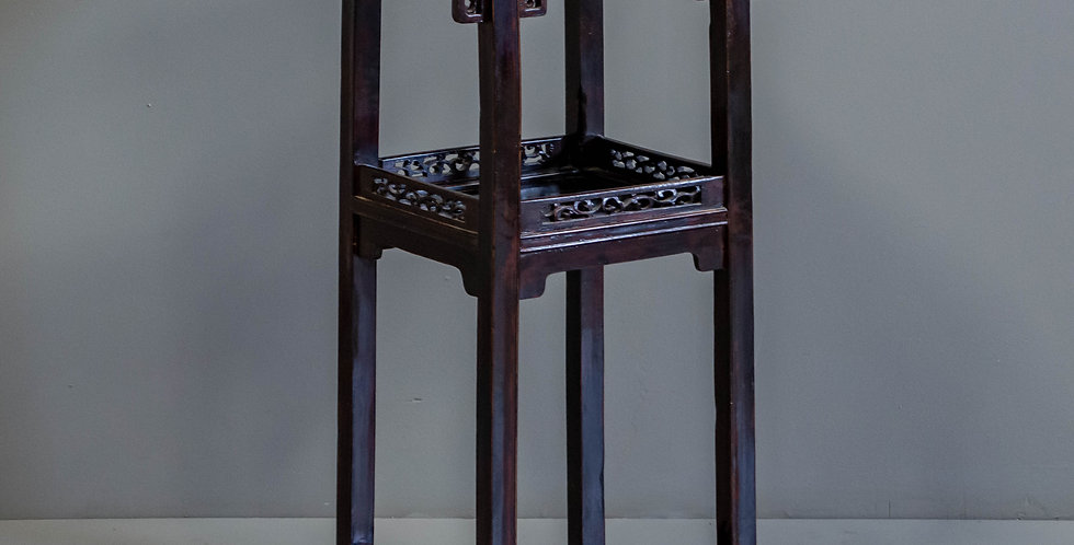 Carved Vintage Chinese Plant Stand