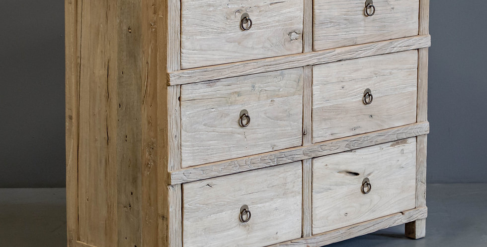 Chinese Chest of Drawers/Dresser in Natural Elm