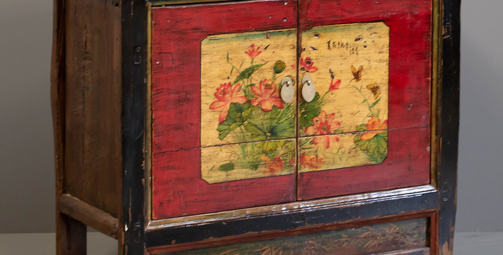 Antique Painted Chinese Cabinet
