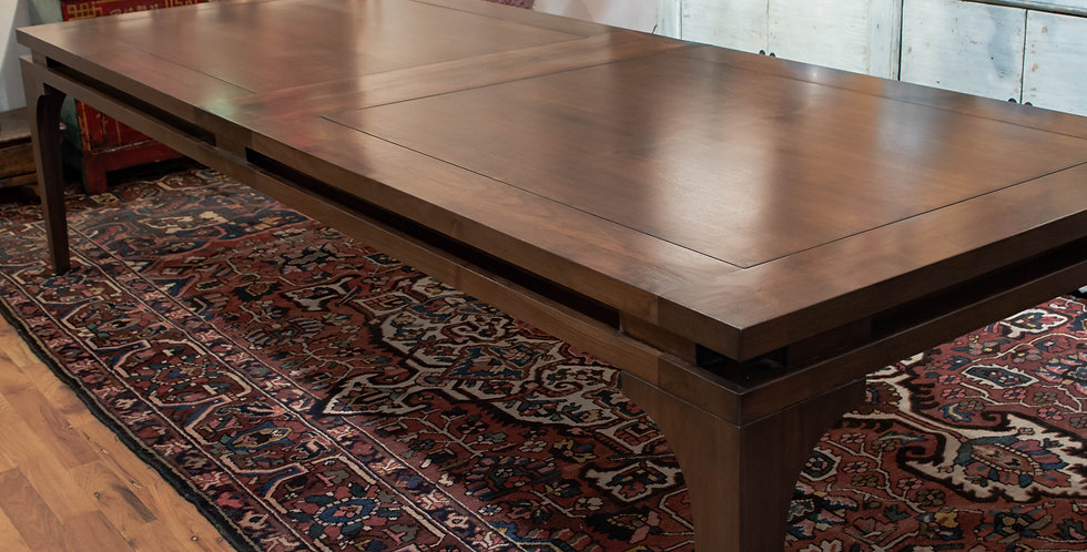 Walnut Dining Table & 10 Chairs