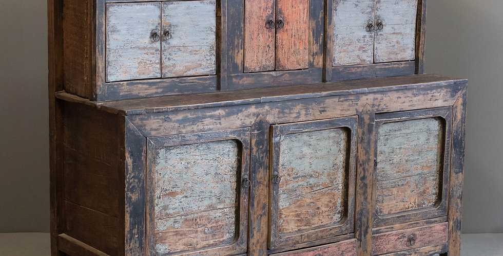 Antique Painted Country Pine Cabinet